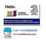 Three UK Prepaid Europe SIM with up to 12GB data