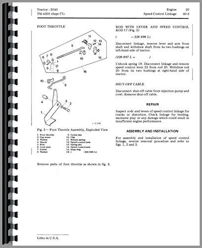 - Service Manual John Deere 2040 Tractor Service Technical Manual S/n 100,001-349,999 tm4300