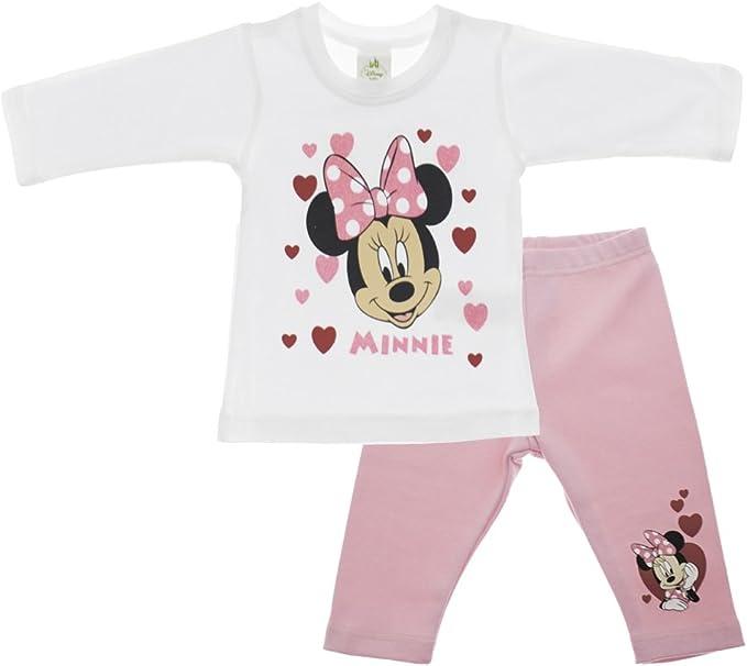 0 Monate - Geburt Minnie Baby Body Pyjama Strampelanzug gut schlafen wei/ß