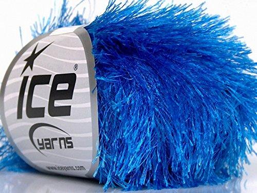 Blue Eyelash Yarn, 50 Gram (Eyelash Blue Yarn)