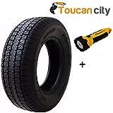 Hi-Run Trailer 65 PSI ST225/75D15 8-Ply Tire LZ1007 and Toucan City LED flashlight