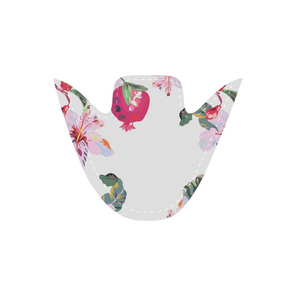 Work Canvas Shoes Bright White Exotic Pattern Lilies Pomegranates Canvas Slip-on Casual Printing Comfortable Low Top Traveler Shoes