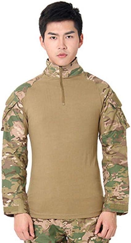 Muchen - Camiseta táctica de combate para hombre, de manga ...