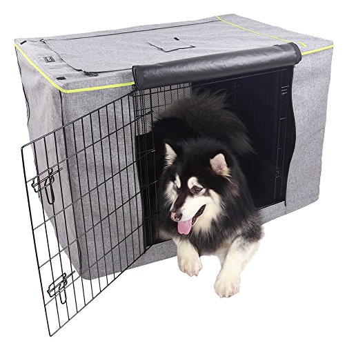 Petsfit Extra Side Door For 5000 Crate Polyester Crate Cover for 42 Inches Wire Crates,Two Doors (Extra Large Dog Crate Covers)
