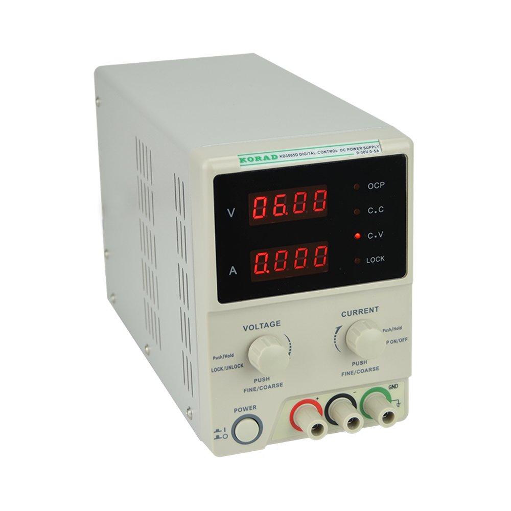 Korad Kd3005d Precision Variable Adjustable 30v 5a Dc 0 30v0 2a Voltage And Current Regulator Linear Power Supply Digital Regulated Lab Grade Home Improvement