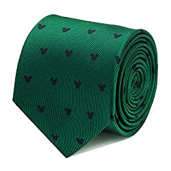 Disney Mens Mickey Mouse Tie Green