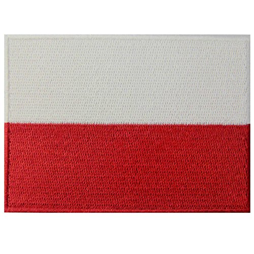 Poland Flag Embroidered Emblem Polish Iron On Sew On Polska National Patch (Poland Costume)