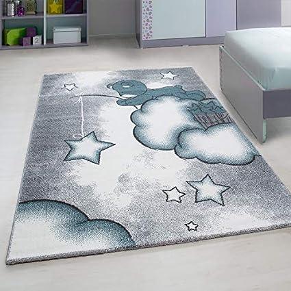 Kinderteppich Kinderzimmer Teppich mit motiven  Kids-560 Blue