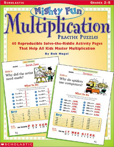 Mighty-Fun Multiplication Practice Puzzles: Grades 2-5