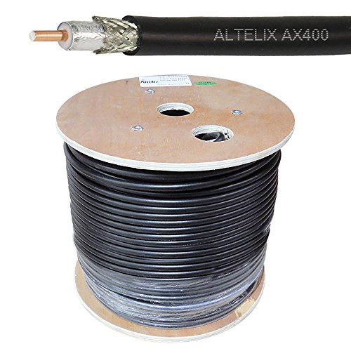 Altelix AX400 50 Ohm Low Loss Cable Double Shielded 400 Type Bulk 500 Feet on Wooden Reel (400 Series Cable)