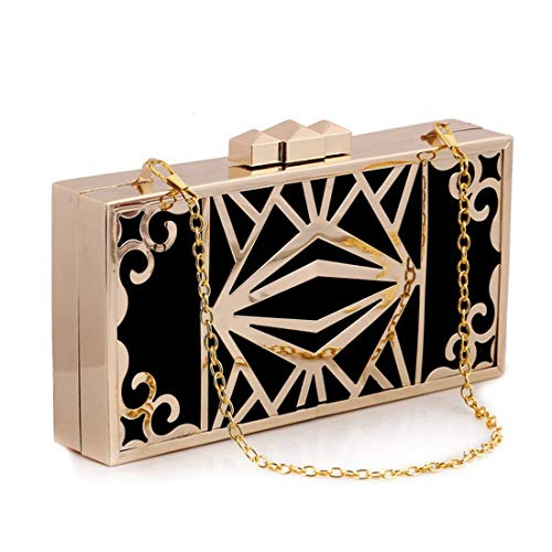 Bag Diamond Evening Party Shell Large Crossbody Bag Clutch Black Shoulder Hard JESSIEKERVIN Purse Handbag 7wzqWAv