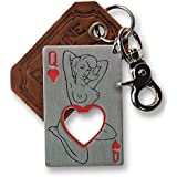 Queen of Hearts Bottle Opener Key Ring by Trixie & Milo