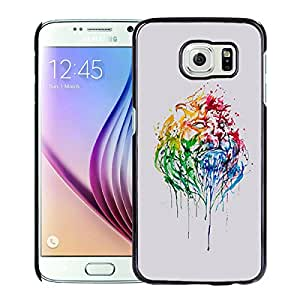 Fashionable And Unique Designed Cover Case With Abstract Illustration Lion King Black For Samsung Galaxy S6 Phone Case