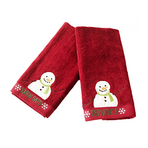 Lenox Holiday Nouveau Bath Towel  middot  Cotton Snowman Hand Towels. Christmas Bathroom Decorating Ideas