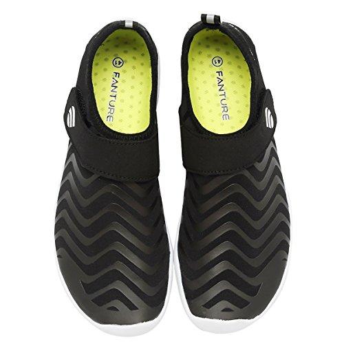 Fanture Uomo Donna Sport Acquatici Scarpe Ad Acqua Quick-dry Con 18 Fori Di Drenaggio Per Guadare, Nuotare, Camminare, Yoga, Spiaggia, Drenaggio Black4