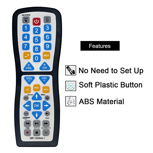 Luckystar 2 Device Universal Waterproof Easy Clean Remote control Support for All Smart TV, LED/LCD TV, Apple TV,Vizio TV, LG, Samsung And Roku Player, BluRay DVD, Audio System by Luckystar (Image #7)