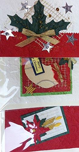 Weltbild Weihnachtskarten.Weihnachtskarten Mit Umschlag Set Handarbeit Aus Maulbeerblatt 20