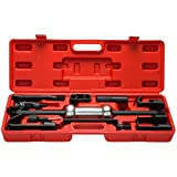 Auto Dent Puller - Heavy Duty 10 Lb. Slide Hammer Dent Puller Body Set Tool Kit - 13 piece complete auto body yruck repair tool kit, by Jecr