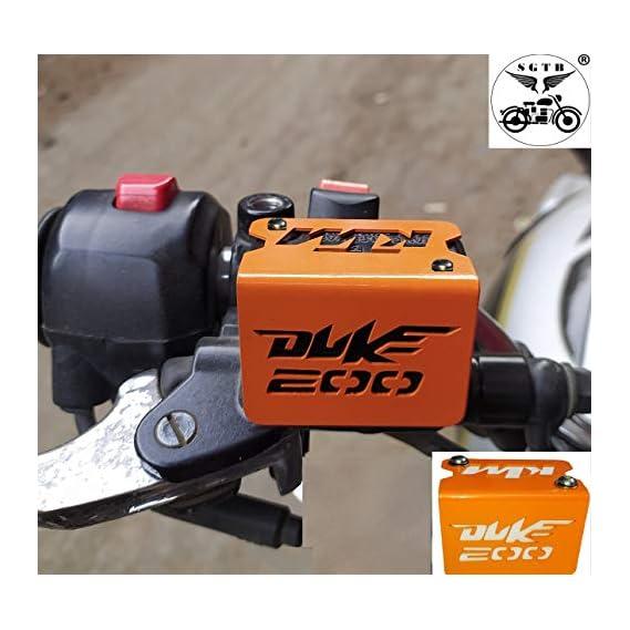SGTB Disk Oil Reservoir Cap/Cover for KTM Duke 200/390 (Stainless Steel) Handle