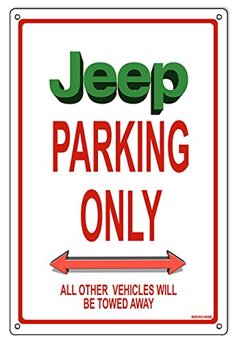 Miscellaneous Parking Signs (Jeep Parking Only Sign 12