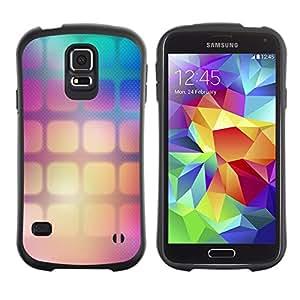 Suave TPU GEL Carcasa Funda Silicona Blando Estuche Caso de protección (para) Samsung Galaxy S5 / CECELL Phone case / / Pattern Wallpaper Squares Gradient Color /