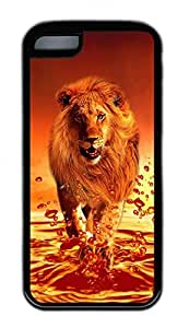Distinct Waterproof Red Lion Design Your Own iPhone 5c Case