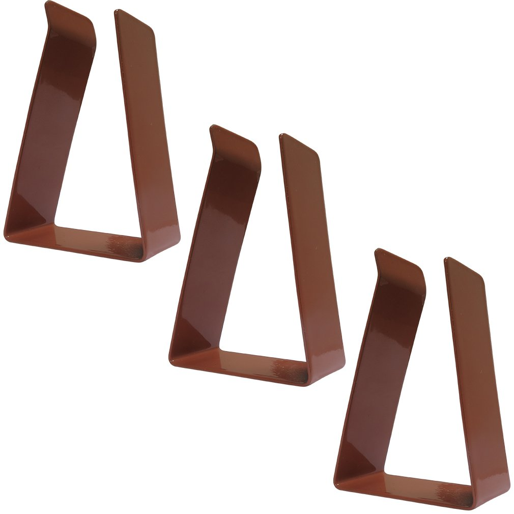 Evelots Metal Replacement Door Clips for Magnetic Door Draft Stopper, Brown- S/3 Green Mountain Imports