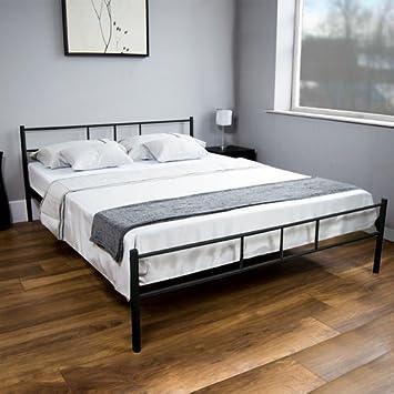 Amazon.de: Dorset King Size Bett Mit Niedrigem Fußende Rahmen Mit Kopfteil  (Rahmen Material: Metall