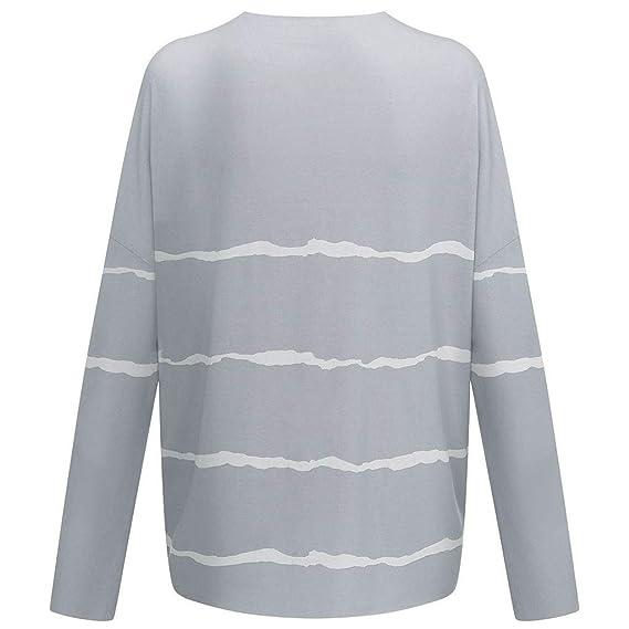 Amazon.com: Xinantime Blusa de manga larga con cuello en V ...