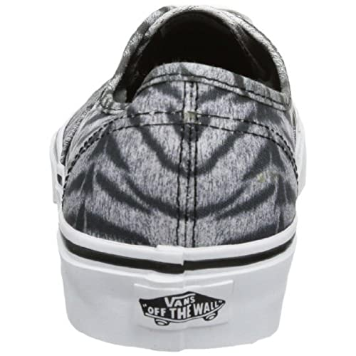 51a0d8c5210e43 Vans Authentic (Tiger) Skate Shoes Black  True White US Men s Size 6.5