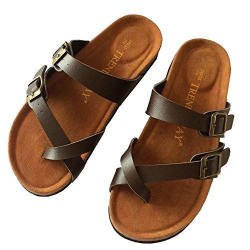 XING Black Spiaggia Pantofole Nuove Interni 42 41 Brown Da Con Scarpe GUANG Comode Ed Fibbia Esterni Sughero Pantofole Doppia In Per TrTq4wfA