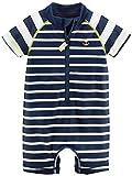 Carter's Baby Boys' Rashguard, Navy Stripe, 24M