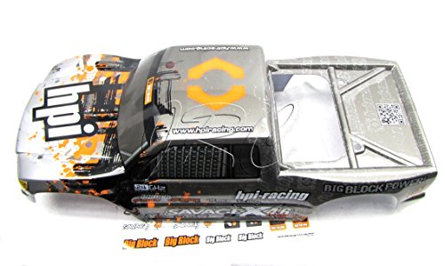 Savage X 4 6 BODY Shell BLACK/SILVER (Cover GT-3 109883 Painted) HPI
