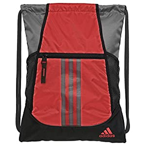 adidas Alliance II Sackpack, Scarlet/Onix/Black, 18 x 13.75-Inch