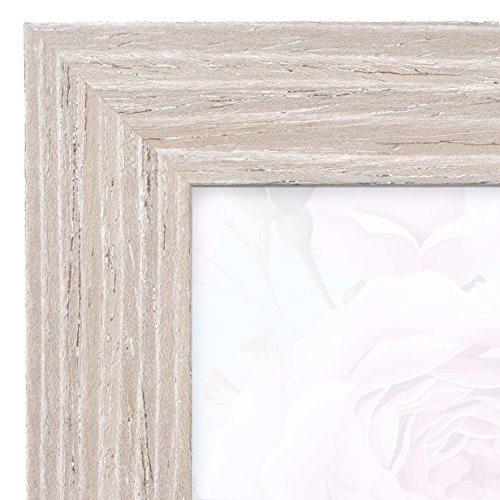 11x17 Picture Frame Barnwood Natural Oak - Poster Frames by EcoHome Vintage Beveled Glass