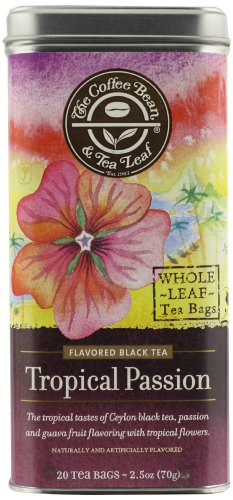 Flower Iced Tea - The Coffee Bean & Tea Leaf, Tea, Hand-Picked Tropical Passion, 20 Count Tin