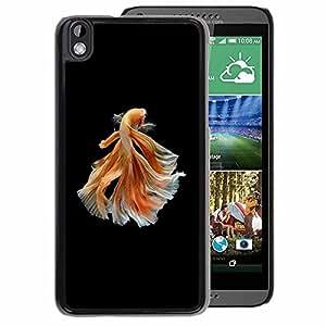 A-type Arte & diseño plástico duro Fundas Cover Cubre Hard Case Cover para HTC DESIRE 816 (Goldfish Black Orange Exotic Dive Pet)
