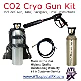 DJ Party Equipment Package - Mobile Handheld CO2 Gun + 20lbs CO2 Tank + CO2 Backpack + 25 FT Hose - Co2 Cannon Gun, Smoke Fog Machine