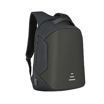 24fd17e49e Amazon.com  S-explorer Anti Theft Backpack School Bag USB Charging Business  Laptop Bag Waterproof Packsack (Black)  S-explorer