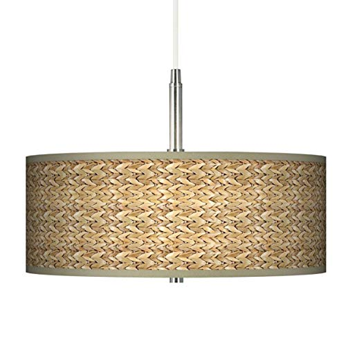Pendant Lighting With Seagrass Shades in US - 7