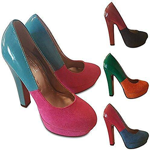 Sandali Pink Zeppa Turquoise Kapris Donna Hot Con amp; Collection 5wT86