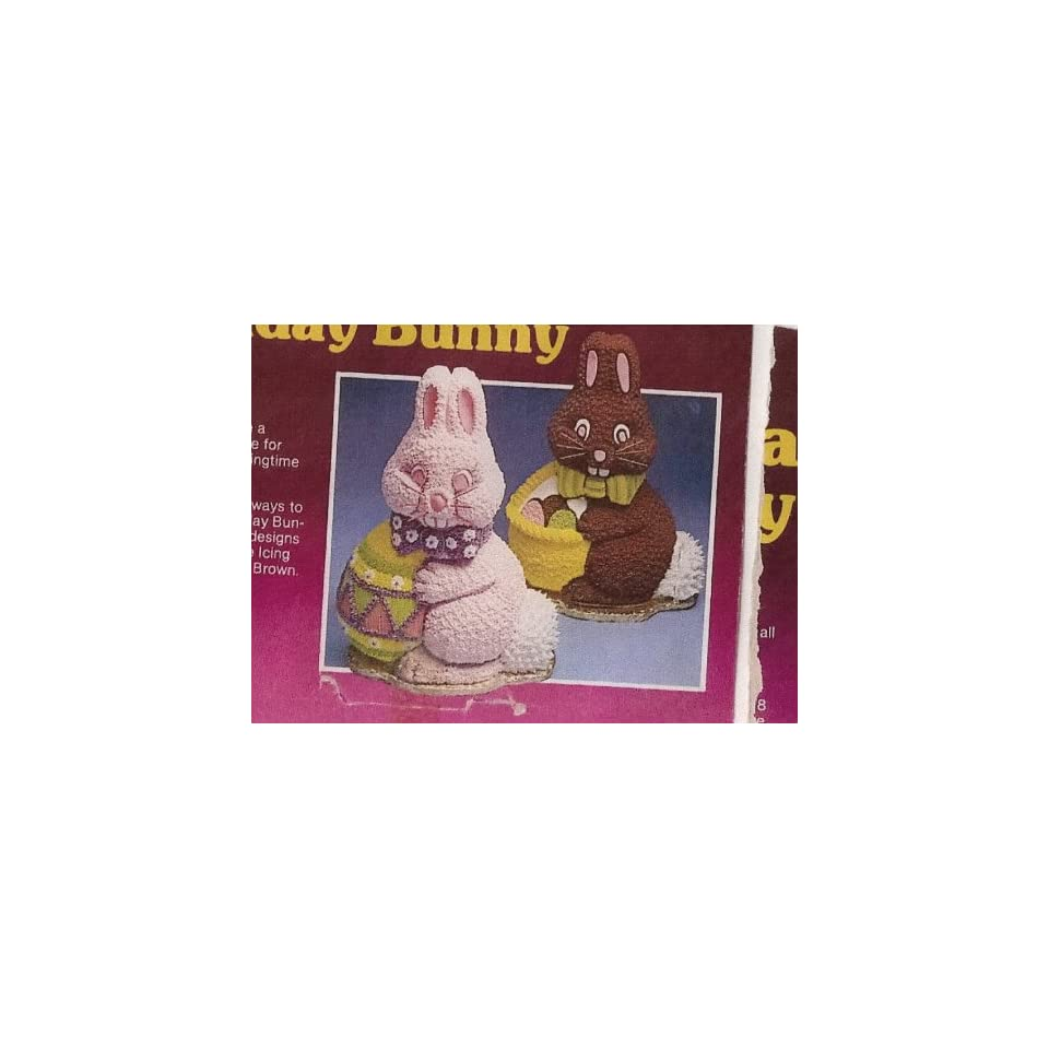 Wilton Cake Pan 3D Holiday Bunny (502 3452, 1984)