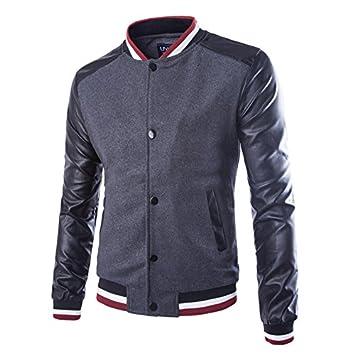 Hombres chaqueta versión coreana de la elegante y versátil chaqueta Sau Lounge en el extremo de los hombres chaquetas Chaqueta de béisbol, ...