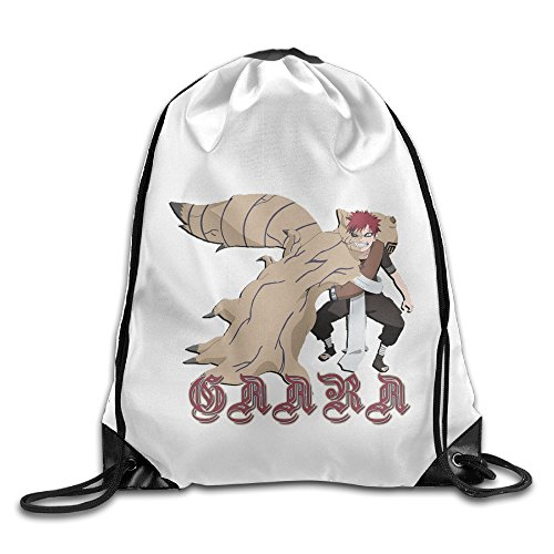 [CEDAEI Japanese Comic Character Gaara Naruto Shippuden Drawstring Bags Hiking White Backpack Sport Bag For Men & Women School Travel Backpack For Teens] (Flash Drive Costume)