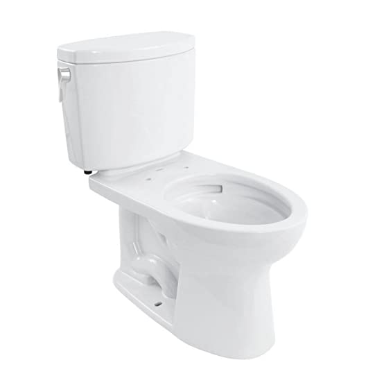 Toto CST454CUFG01 Drake II 1G Close Coupled Toilet With SanaGloss Cotton