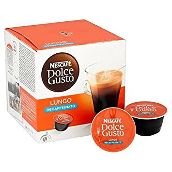 dolce gusto decaffeinato  Nescafe Dolce Gusto Lungo Decaf 112g: : Grocery & Gourmet Food