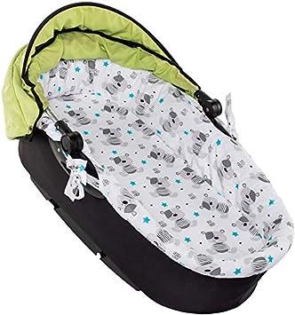 Compuesto de colch/ón funda para capazo de beb/é Orsi Rosa Juego para cochecito de beb/é fabricado en la UE RS-Italy 75 x 34 x 2,5 cm desenfundable capazo