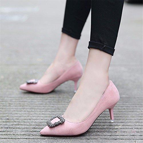 Tipp Arbeitsschuhe Jahreszeiten Partei Die Heel Schuhe Damenschuhe Im Frühjahr Und Bohrer Wasser Pink Im High Fein Mit Einem Schuhe Herbst Mit HXVU56546 Für Yw1fXx