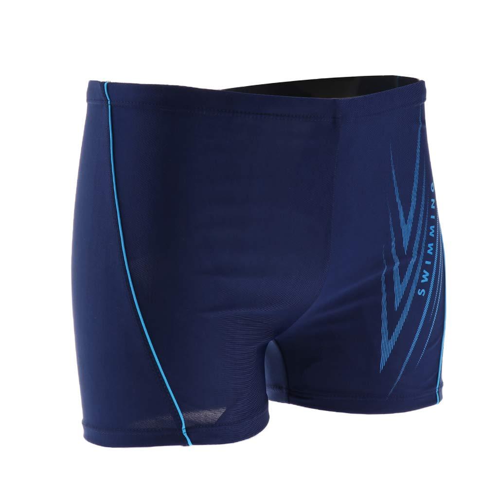 SM SunniMix Men Square Cut Swim Shorts Trunks Beach Pants Underwear Quick Drying Fabric
