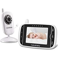 Video Baby Monitor with Camera and Audio | Keep Babies Nursery with Night Vision, Talk Back, Room Temperature, Lullabies…
